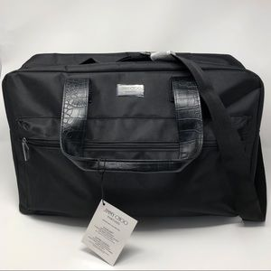 Jimmy Choo Perfume Black Canvas Large Tote Bag NWT
